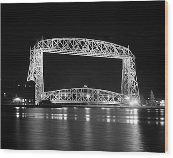 Aerial Lift Bridge Duluth Minnesota Wood Print