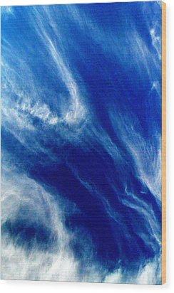 Wood Print featuring the photograph Aerial Ocean by Carlee Ojeda