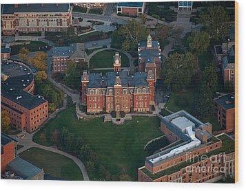 Aerial Of Woodburn Hall Wood Print