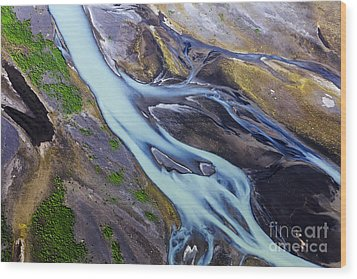 Aerial Photo Of Iceland  Wood Print