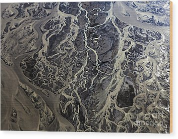 Wood Print featuring the photograph Aerial Photography by Gunnar Orn Arnason