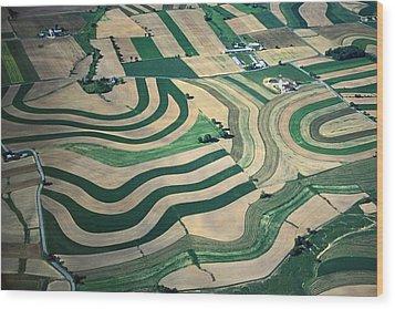 Aerial Tapestry Wood Print by Blair Seitz