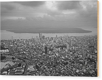 Aerial View Of Guayaquil City Wood Print by Sami Sarkis