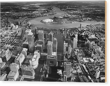Aerial View Of London 5 Wood Print by Mark Rogan