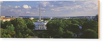 Aerial, White House, Washington Dc Wood Print by Panoramic Images
