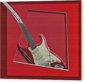 Aerosmith Rockn Roller Guitar Wood Print by Thomas Woolworth
