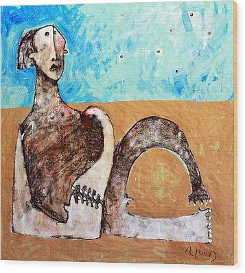 Aetas No 12  Wood Print by Mark M  Mellon