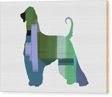 Afghan Hound 1 Wood Print by Naxart Studio