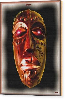 Wood Print featuring the digital art Africa by Daniel Janda