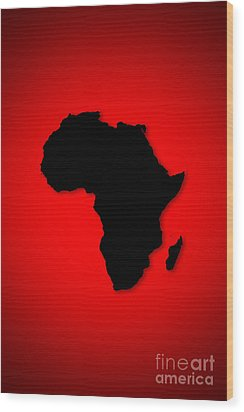 Wood Print featuring the digital art Africa  by Mohamed Elkhamisy