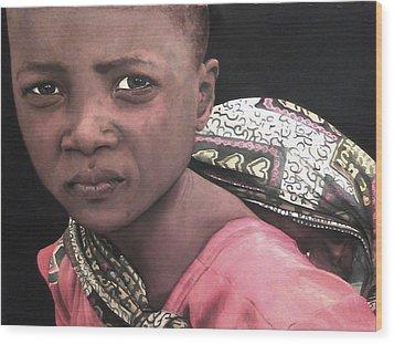 Africa Sisters Wood Print