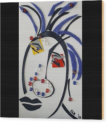 Nubian American Girl Wood Print