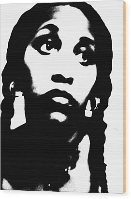 Wood Print featuring the photograph African American Girl P7292079 by Cleaster Cotton