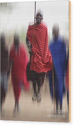 Wood Print featuring the photograph African Dance by Christine Sponchia