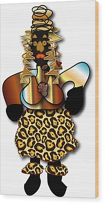 African Dancer 2 Wood Print by Marvin Blaine