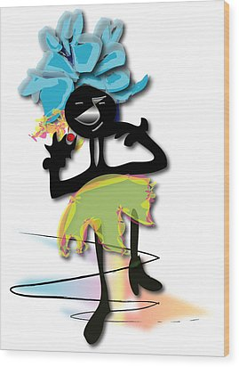 African Dancer 3 Wood Print by Marvin Blaine