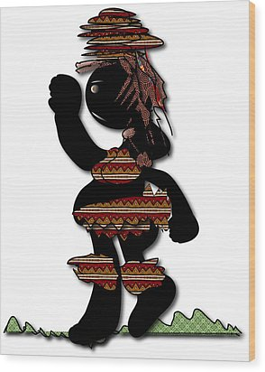 African Dancer 7 Wood Print by Marvin Blaine