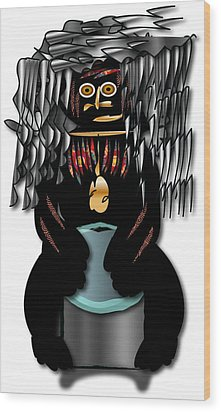 African Drummer 2 Wood Print by Marvin Blaine