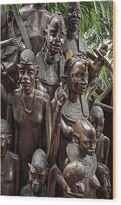 African Family Tree Of Life Wood Print by Daniel Hagerman