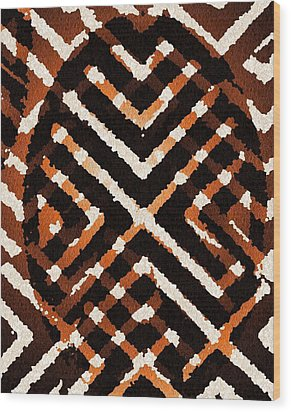 African Peace Wood Print by Jacqueline Mason