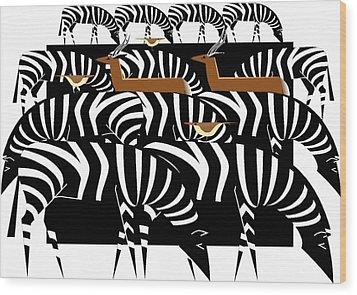 African Plains Wood Print