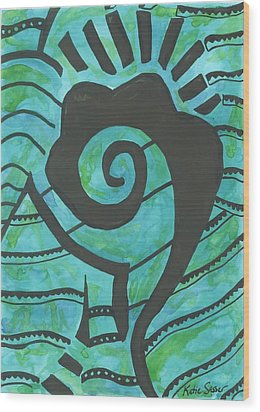 African Question Mark Wood Print