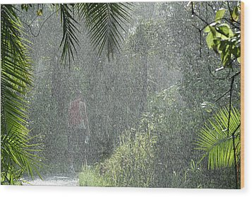 African Rain Wood Print