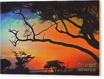 African Skies Wood Print by Lydia Holly