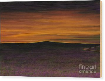 African Sky Wood Print by Rand Herron
