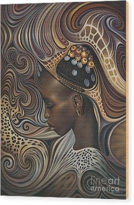 African Spirits II Wood Print