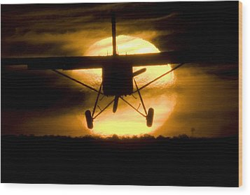 Wood Print featuring the photograph African Sunset by Paul Job