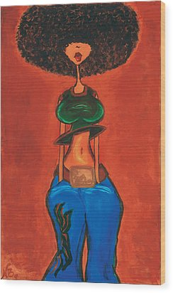 Afrocentric Wood Print