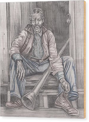 After A Hard Days Work Wood Print by Beverly Marshall