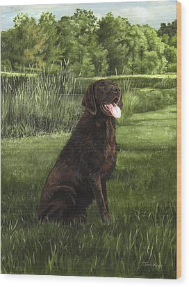 After A Swim Wood Print by Terri  Meyer