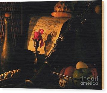After Glow Wood Print by Joe Jake Pratt