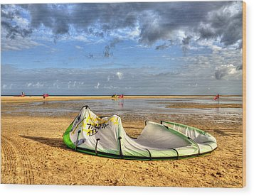 Wood Print featuring the photograph After Kiteboarding Session by Julis Simo