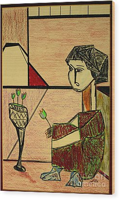after Picasso Wood Print by Bill OConnor