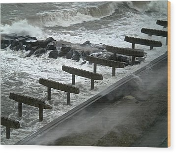 Wood Print featuring the photograph After Storm Sandy by Joan Reese