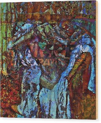 After The Bath Wood Print by Allen Beilschmidt