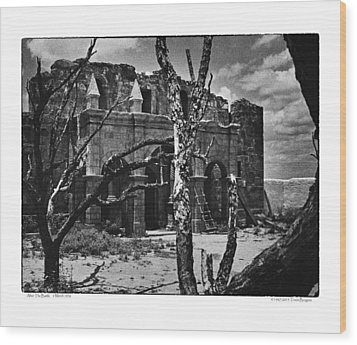 Wood Print featuring the photograph After The Battle by Travis Burgess