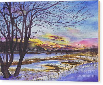 After The Blizzard Bayville Wood Print by Susan Herbst