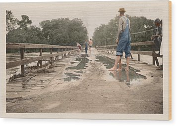 Wood Print featuring the photograph After The Flood by Ron Crabb