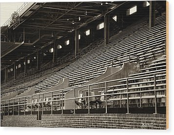 After The Game - Franklin Field Philadelphia Wood Print by Bill Cannon