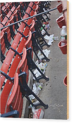 After The Game Wood Print by Greg DeBeck