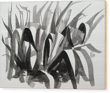 After The Iris Blooms Have Fallen Wood Print by Kip DeVore