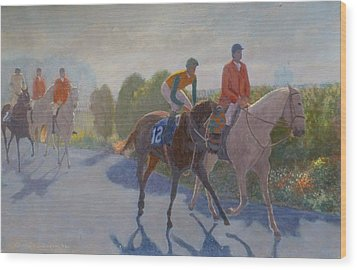 After The Race Wood Print by Terry Perham