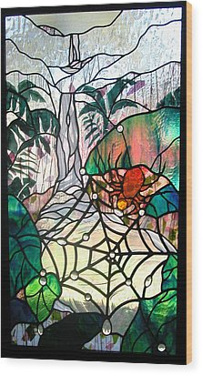 After The Rain Wood Print by Christine Alexander