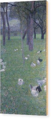 After The Rain Wood Print by Gustav Klimt