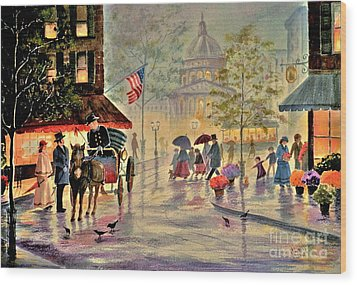 After The Rain Wood Print by Marilyn Smith