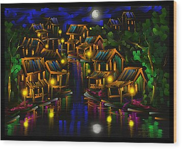 After The Rain - Scratch Art Series - #25 Wood Print by Steven Lebron Langston